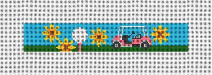 Golfing Girl Needlepoint Key Fob Canvas