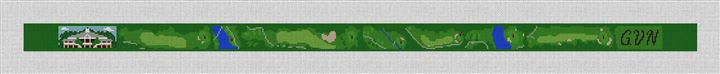 Governors Club Golf Course Needlepoint Belt Canvas
