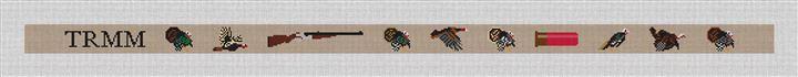Grand Slam Turkey Needlepoint Belt Canvas