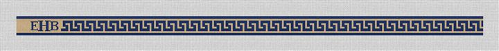 Greek Key Hand Painted Needlepoint Belt Canvas