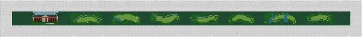 Green Island Golf Course Needlepoint Belt Canvas