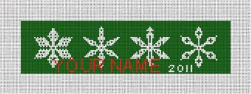 Green Snowflake - Personalized Needlepoint Canvas