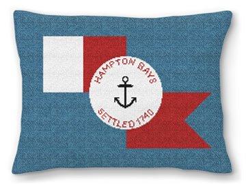 Hampton Bays Flag Needlepoint Pillow