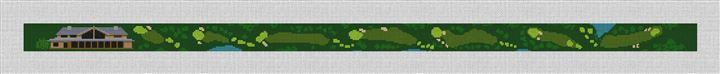 Harding Park Golf Course Needlepoint Belt Canvas