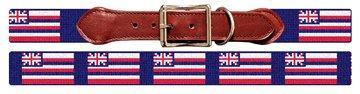 Hawaii Flag Needlepoint Dog Collar