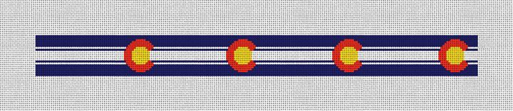 Hip Colorado Needlepoint Belt Canvas