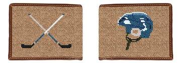 Hockey Needlepoint Wallet