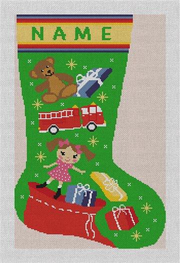 Holiday Magic Stocking Needlepoint Canvas