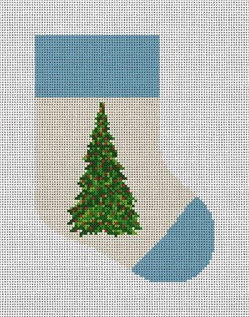 Holiday Tree Needlepoint Mini Stocking Canvas