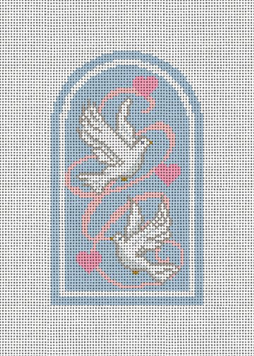 Hope Doves Needlepoint Ornament Canvas
