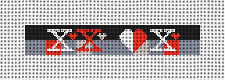 Hugs and Kisses Needlepoint Key Fob Canvas