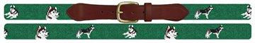 Husky Needlepoint Belt