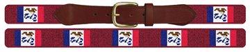 Iowa Flag Needlepoint Belt