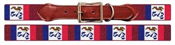 Iowa Flag Needlepoint Dog Collar