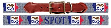 Iowa State Needlepoint Dog Collar