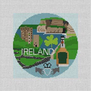 Ireland Needlepoint Ornament Canvas