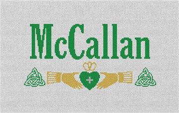 Irish Wedding Pillow Needlepoint Canvas