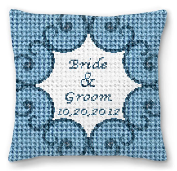 Iron Scroll Personalized Ring Bearer Pillow