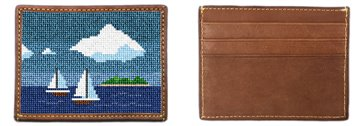 Island Sailing Needlepoint Card Wallet