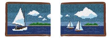 Island Sailing Needlepoint Wallet
