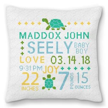 It's A Boy Needlepoint Pillow
