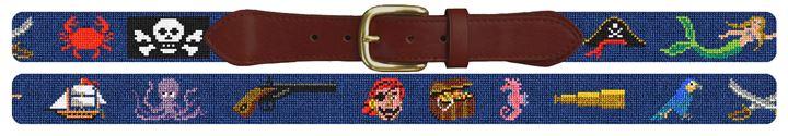 It's A Pirates Life Needlepoint Belt