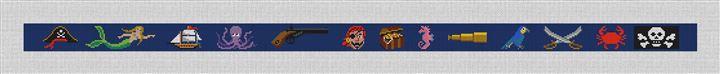 It's A Pirates Life Needlepoint Belt Canvas
