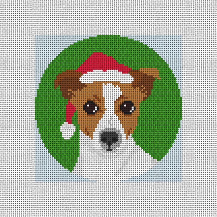 Jack Russell Terrier Needlepoint Ornament Canvas