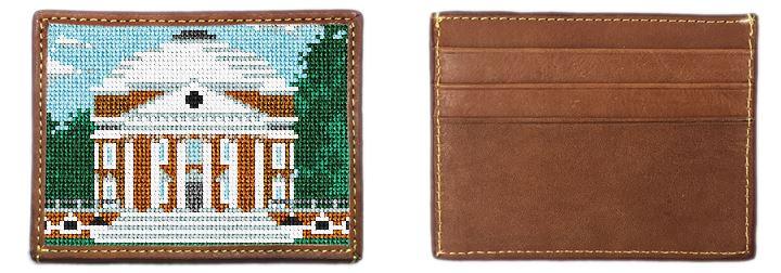 Jefferson's Rotunda Needlepoint Card Wallet
