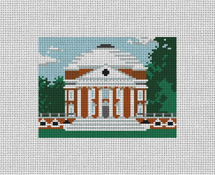 Jefferson's Rotunda Needlepoint Card Wallet Canvas