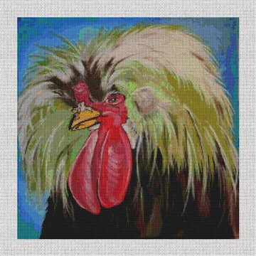 Jerry the Rooster Needlepoint Canvas