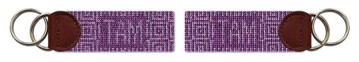 Jeweled Squares Needlepoint Key Fob
