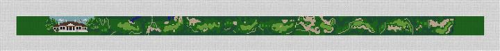 Johns Island Golf Course Needlepoint Belt Canvas