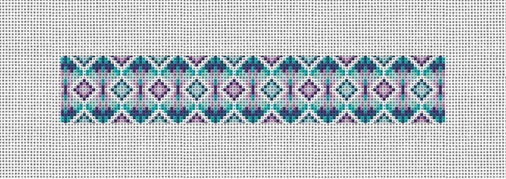 Kaleidoscope Needlepoint Key Fob Canvas