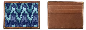 Kasuri Ikat Needlepoint Card Wallet