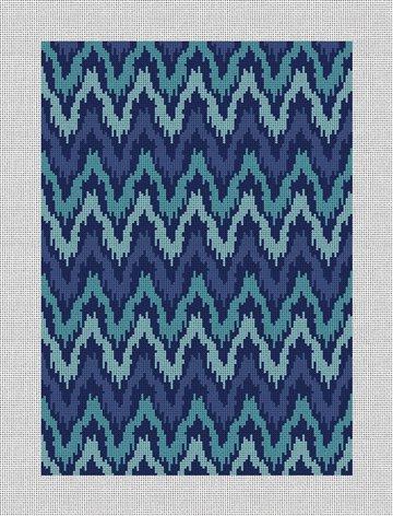 Kasuri Ikat Womens Wallet Needlepoint Canvas
