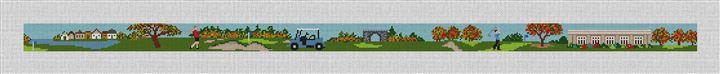Kernwood Golf Course Needlepoint Belt Canvas