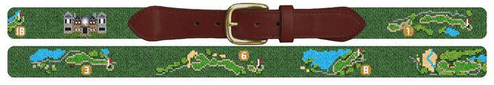 Kiawah Classique Golf Course Needlepoint Belt