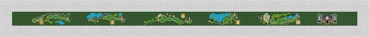 Kiawah Classique Golf Needlepoint Belt Canvas