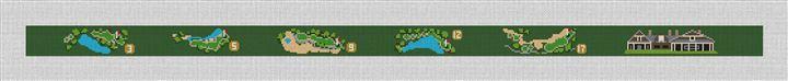 Kiawah River Golf Course Needlepoint Belt Canvas