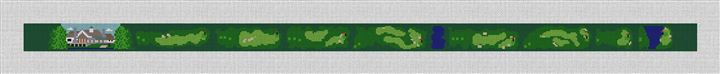 Kinloch Golf Course Needlepoint Belt Canvas