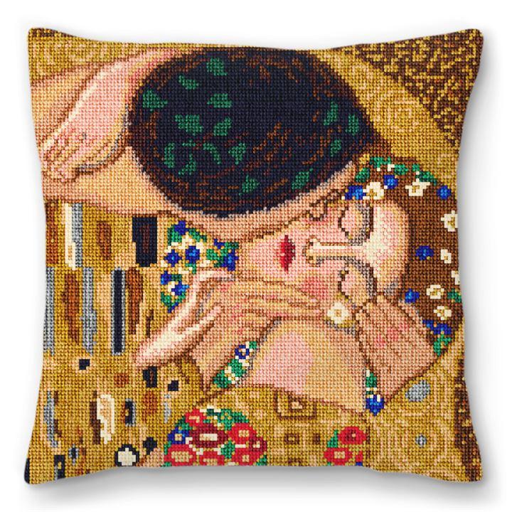 Klimt's Kiss Needlepoint Pillow