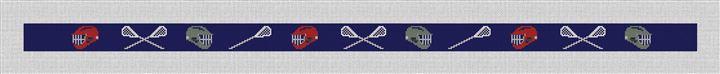 Lacrosse Needlepoint Belt Canvas