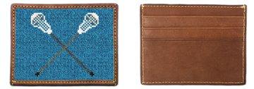 Lacrosse Sticks Needlepoint Card Wallet