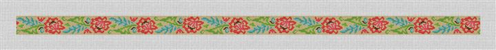 Lacy Floral Needlepoint Belt Canvas