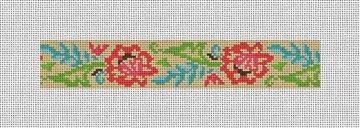 Lacy Floral Needlepoint Key Fob Canvas