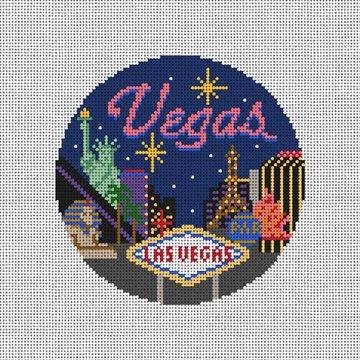 Las Vegas Needlepoint Ornament Canvas