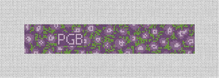 Lavender Lilacs Needlepoint Key Fob Canvas