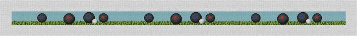 Lawn Bowling Needlepoint Belt Canvas