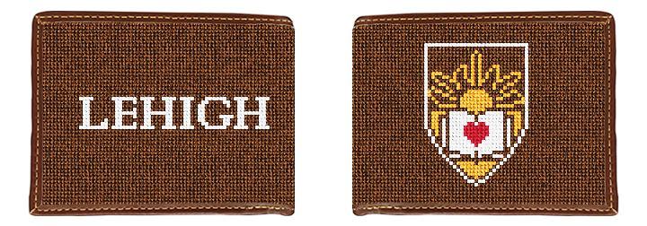 Lehigh University Crest Needlepoint Wallet